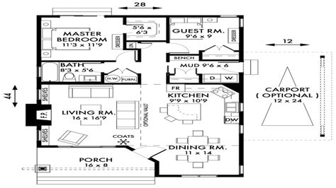 cottage home floor plans 2 bedroom plans small cottage 2 bedroom cottage house