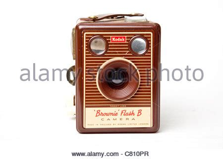 vintage camera with flash stock photo, royalty free image