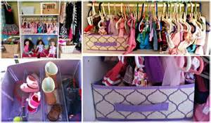 a doll clothes closet with dollar store items
