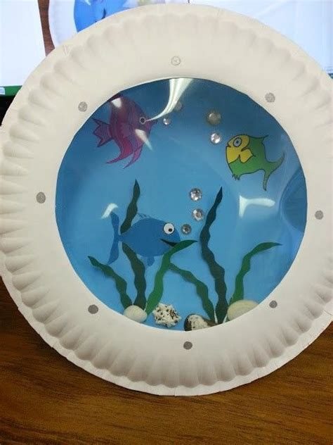 paper plate fish template misadventures of a ya librarian porthole fish craft