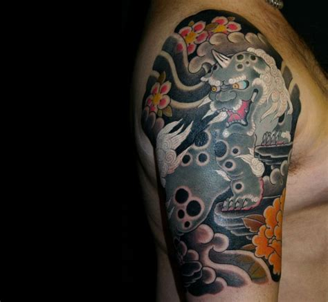 foo dog half sleeve 3 tattoo pinterest
