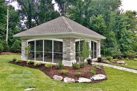 building a backyard pavilion backyard pavilion contemporary patio st louis by
