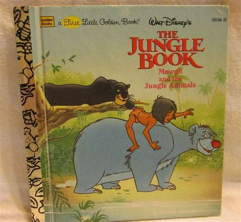 walt disneys the jungle first little golden book walt disneys jungle book mowgli and the jungle animals ebay