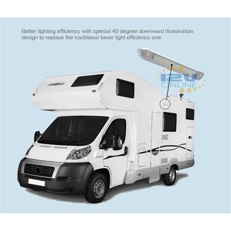 caravan awning lights 12v 2 led 12v silver porch awning light rv caravan trailer cargo boat marine outdoor