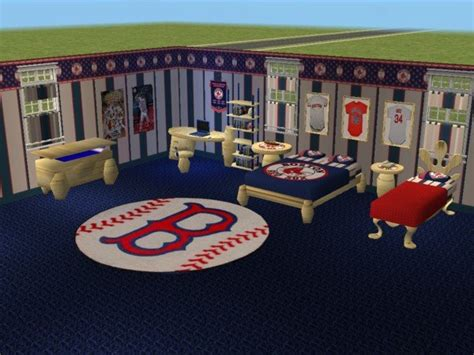 sox bedroom mod the sims boston sox bedroom requested by hockeyyrulez