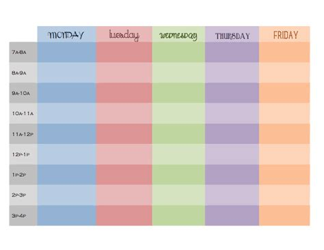 printable daily hourly schedule week hourly schedule pictures to pin on pinterest pinsdaddy
