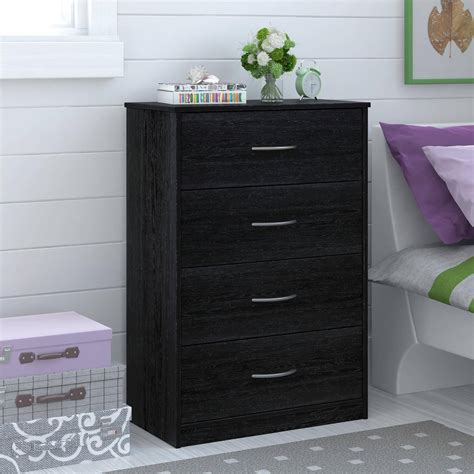 vanity chest bedroom furniture 4 drawer dresser chest bedroom furniture black brown white