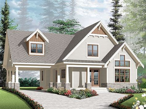House Plans With Carports by Craftsman House Plans With Carports Craftsman Bungalow