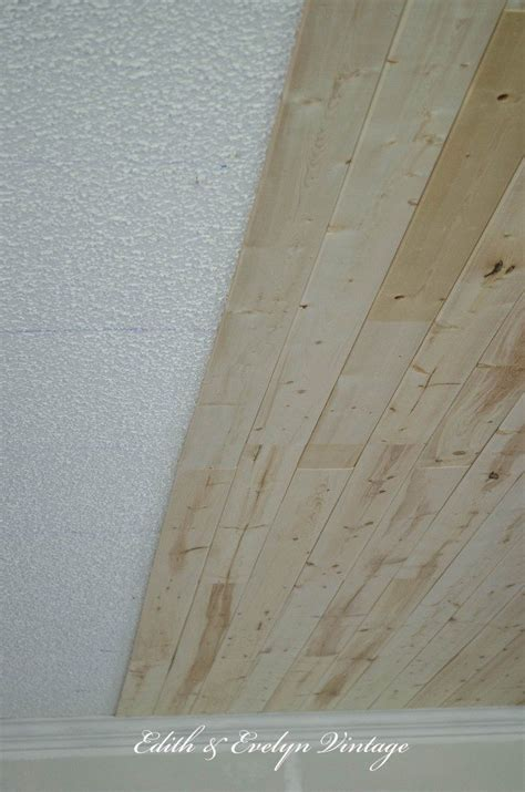 how to plank a popcorn ceiling with lightweight tongue and