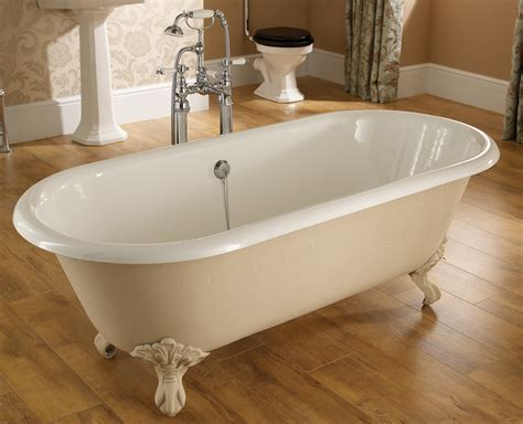 bathtub with feet heritage oban double ended roll top bath with feet 1760 x 790mm