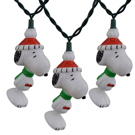 Peanuts Snoopy Christmas Novelty Light Set Snoopy Lights