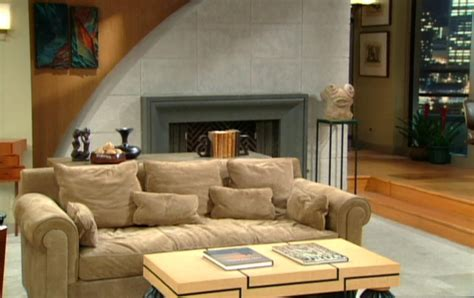 frasier living room frasier sofa frasier crane s apartment tv view of high end domesticity thesofa