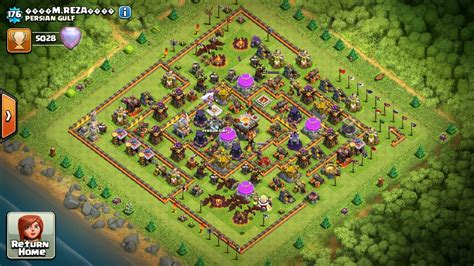 update layout coc clash of clans town hall 11 war base layout with full