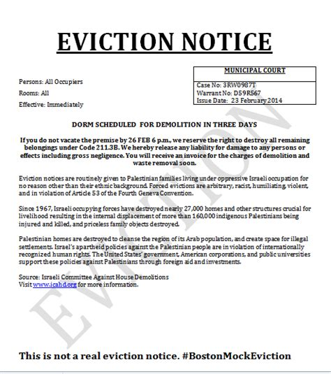 printable letter  eviction form generic