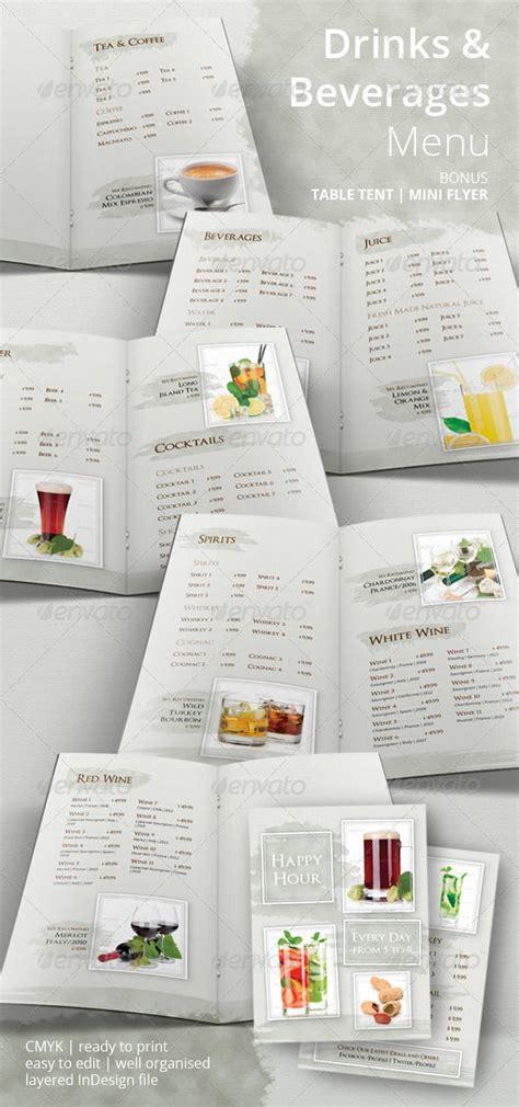 Drinks And Beverages Menu More Menu Templates Menu And Menu Printing Ideas Drink List Template