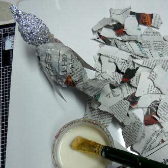 How To Make Paper Mache Ls - comment faire un oiseau en papier m 226 ch 233 tuto id 233 es et