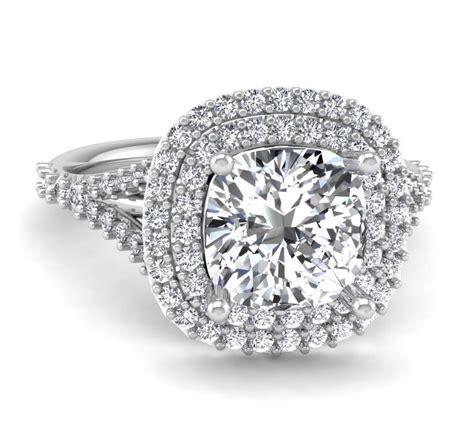 cushion cut halo engagement rings 1000 cushion cut halo engagement ring tara nash jeweler