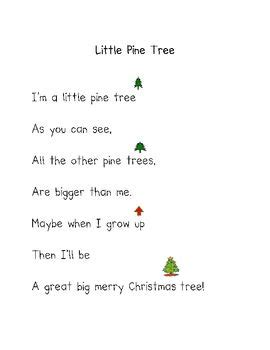 the little christmas tree poem 134 best images about shared reading on pocket charts poems and poetry