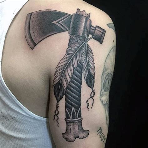 tomahawk tattoo 70 tomahawk designs for american indian axe ideas