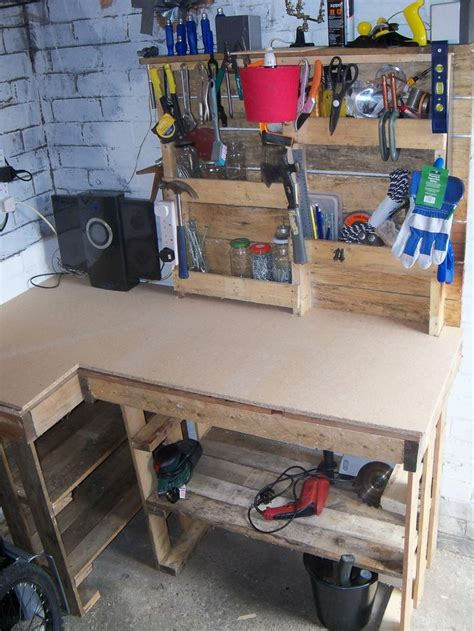 tool benches for garage pallet workbench tool rack pallet ideas workbenches