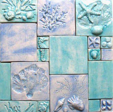 nautical tiles for bathroom custom ceramic bas relief art tiles featuring sealife or