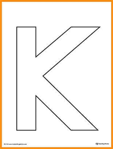 letter k template 6 letter k template workout spreadsheet