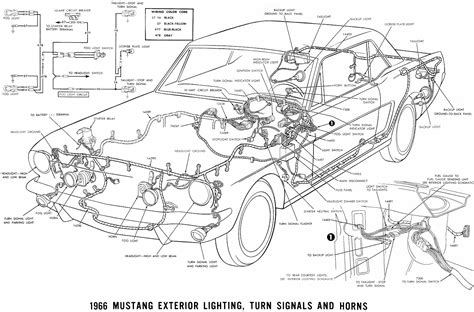 mustang parts diagram 1966 mustang wiring diagrams average joe restoration