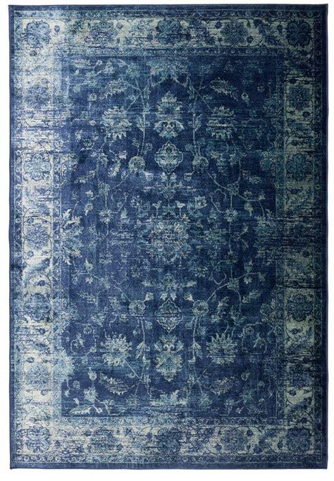 teppich blau luxus vintage teppich mit orient flair