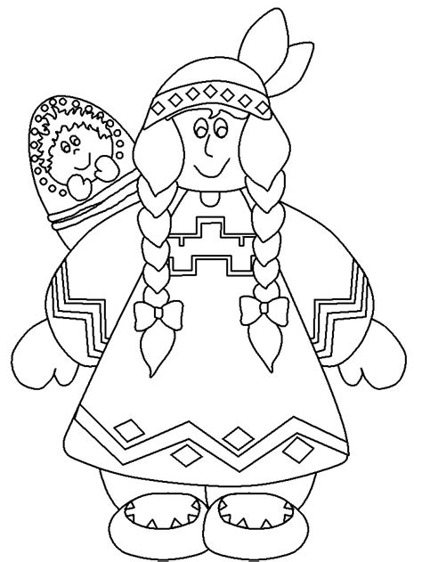 thanksgiving native american coloring pages az coloring