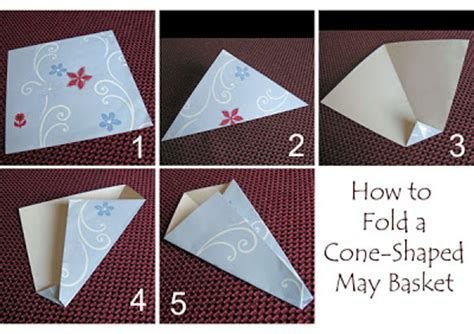 How To Fold A Paper Cone - how to fold paper cones 28 images how to make a paper