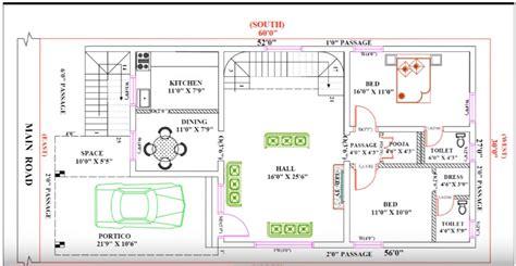 30 feet by 60 single floor modern home plan according to vastu shastra homes in kerala india