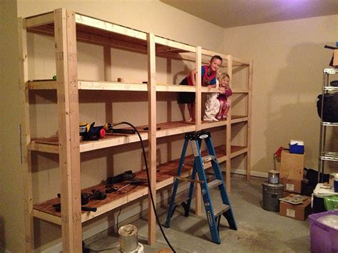 build sturdy garage shelves home improvement