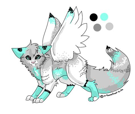 cute anime cat with wings drawings winged cat adoption by joker darling on deviantart