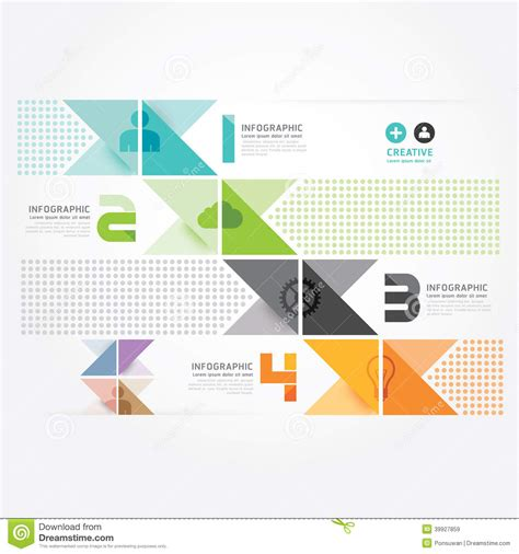 free layout graphic design modern design minimal style info graphic template stock