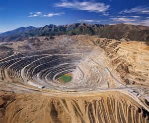 Open Pit Open Pit Copper Mine Aerial View Of Kennecott Bingham
