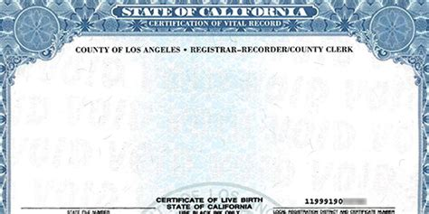 Monterey County Recorder Birth Certificate Birth Certificate California Monterey County Image Collections Certificate Design