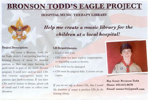 Fundraising Letter For Eagle Scout Project Silver Springs Community2011 January Bronson Todd Eagle Scout Project