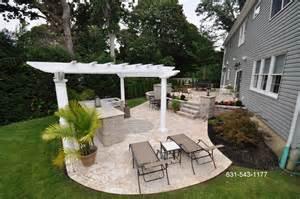 Backyard Patio Designs With Pavers Travertine Backyard Patio Bar Island By Gappsi Gappsi Giuseppe Abbrancati