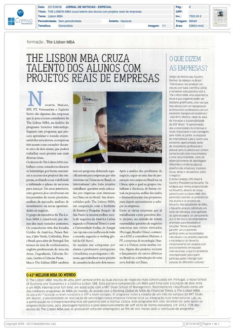 Novartis Mba Internship by The Lisbon Mba Crosses Talented Students With Real