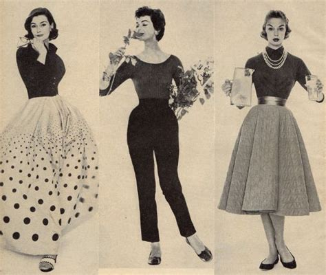 1950 s fashion picture on the right lightweight sweater