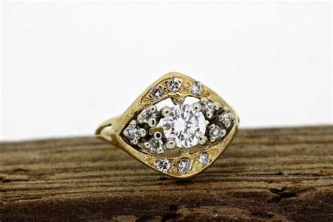 vintage engagement ring dainty from gesshop