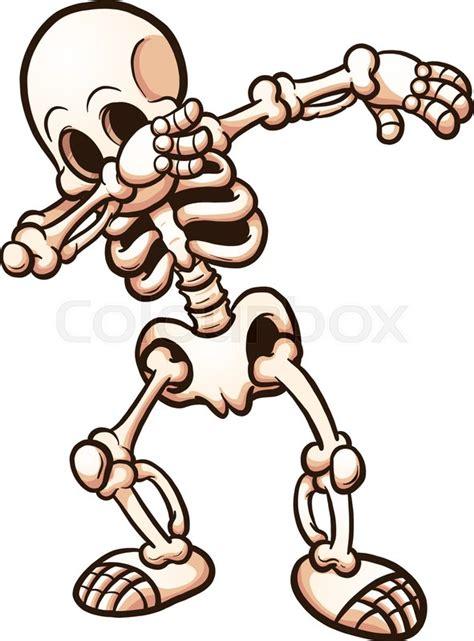 skeleton clipart dabbing skeleton vector clip stock vector