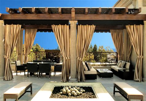 Patio Drapes by Outdoor Curtains Drapes And Roller Shades Superior Awning