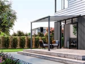 Awnings Auckland Wall Mounted Patio Cover 3m X 3m Ironsand Patio Covers