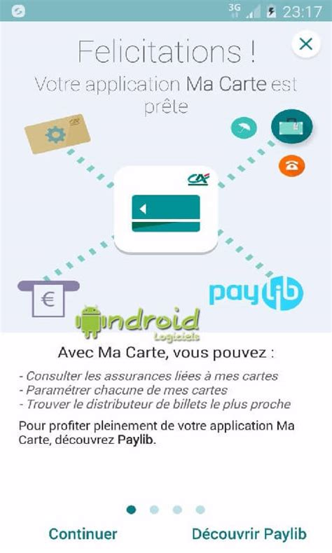 Plafond Carte Bancaire Credit Agricole by Ma Carte Cr 233 Dit Agricole Android Logiciels Fr