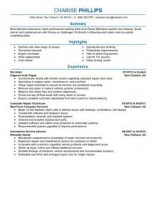 Sample Resume For Automotive Technician Resume Examples Templates Entry Level Mechanic Resume