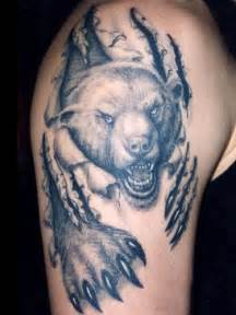 bear tattoo designs about lady