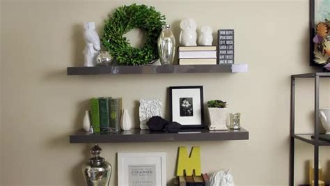 decorating with floating shelves video decorating floating shelves ehow