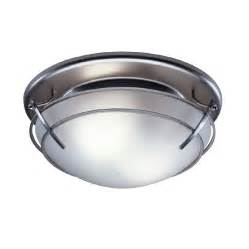 Bathroom Fan Lights Shop Broan 2 5 Sone 80 Cfm Satin Nickel Bathroom Fan With Light At Lowes