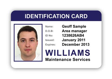identification card templates image gallery identity card sle